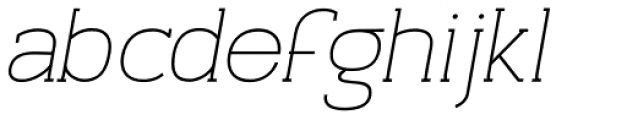 Archivio Italic Slab 400 Font LOWERCASE