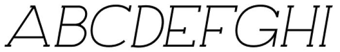 Archivio Italic Slab 500 Font UPPERCASE