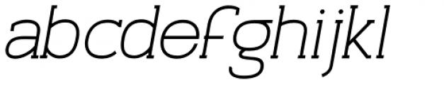 Archivio Italic Slab 700 Font LOWERCASE