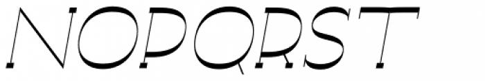 Archivio Italic Slab Experimental 400 Font UPPERCASE