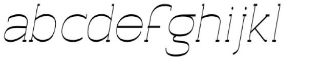 Archivio Italic Slab Inverted 400 Font LOWERCASE