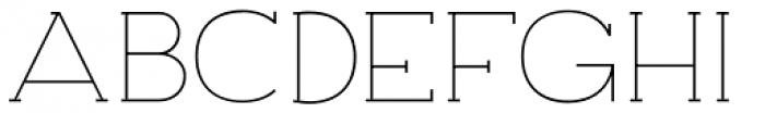 Archivio Slab 200 Font UPPERCASE
