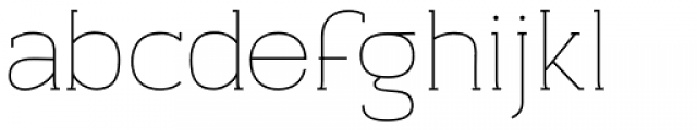 Archivio Slab 200 Font LOWERCASE