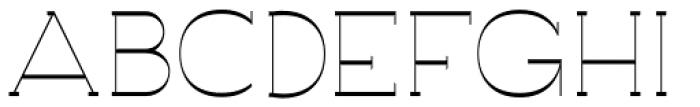 Archivio Slab Inverted 400 Font UPPERCASE