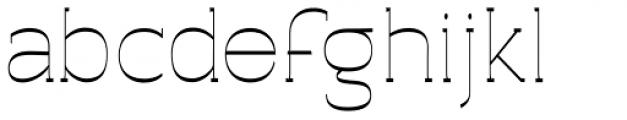 Archivio Slab Inverted 400 Font LOWERCASE