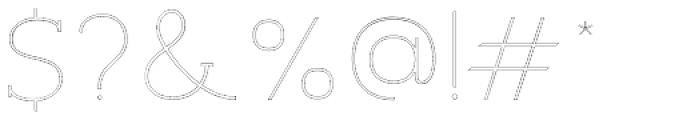Archivio Slab Outline 400 Font OTHER CHARS