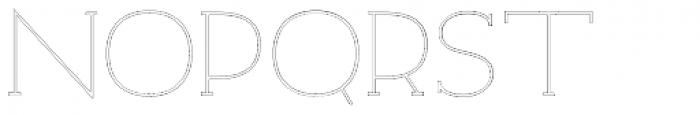 Archivio Slab Outline 400 Font UPPERCASE