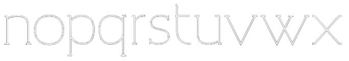 Archivio Slab Outline 400 Font LOWERCASE
