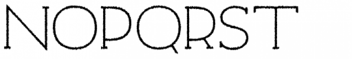 Archivio Slab Rough 400 Font UPPERCASE