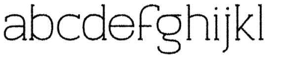 Archivio Slab Rough 400 Font LOWERCASE