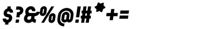 Arcus ExtraBold Italic Font OTHER CHARS