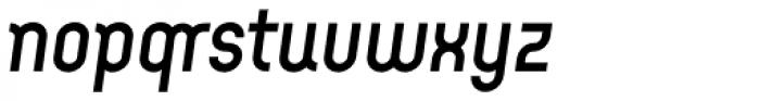 Arcus Medium Italic Font LOWERCASE