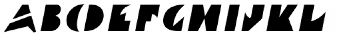 Ardent Oblique Font UPPERCASE