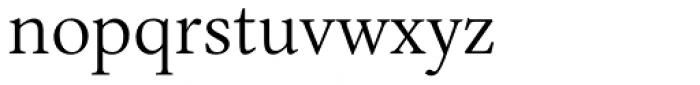 Ardentia Light Font LOWERCASE