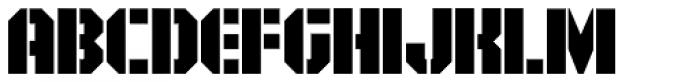 Area51 Military Solid Font UPPERCASE