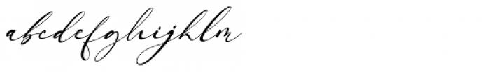 Arellia Italic Font LOWERCASE