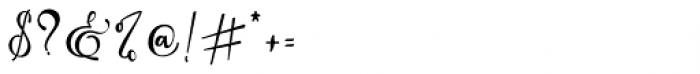 Arellia Regular Font OTHER CHARS
