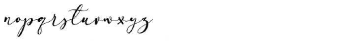 Arellia Regular Font LOWERCASE