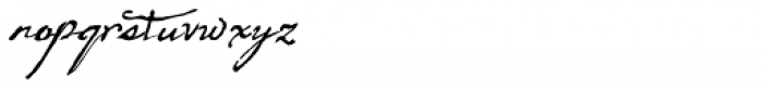 Arendahl Script Font LOWERCASE