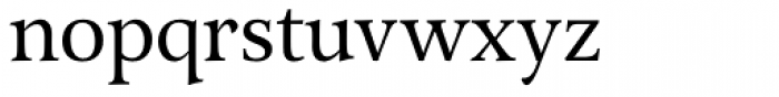 Arethusa Book Font LOWERCASE