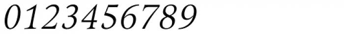 Arethusa Light Italic Font OTHER CHARS