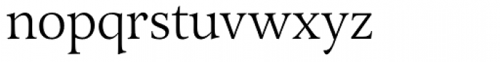 Arethusa Light Font LOWERCASE