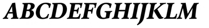 Arethusa Pro Bold Italic Font UPPERCASE