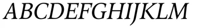 Arethusa Pro Book Italic Font UPPERCASE