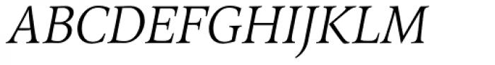 Arethusa Pro Light Italic Font UPPERCASE