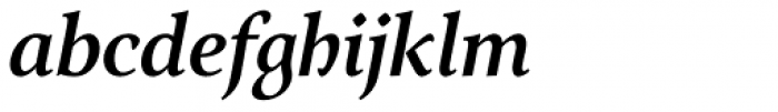 Arethusa Pro Medium Italic Font LOWERCASE