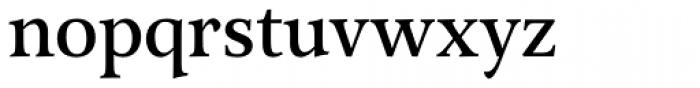 Arethusa Pro Regular Font LOWERCASE