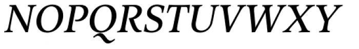 Arethusa Regular Italic Font UPPERCASE