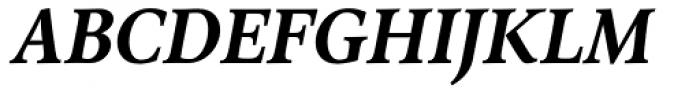 Arethusa Semi Bold Italic Font UPPERCASE
