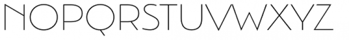Argent Sans Extra Light Font UPPERCASE