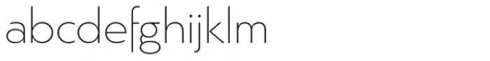 Argent Sans Extra Light Font LOWERCASE