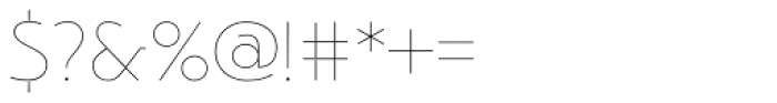 Argent Sans Thin Font OTHER CHARS