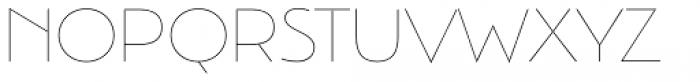 Argent Sans Thin Font UPPERCASE