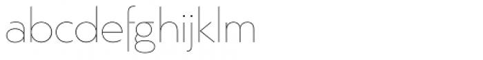 Argent Sans Thin Font LOWERCASE