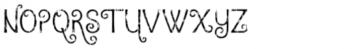 Argentile Distressed Font UPPERCASE