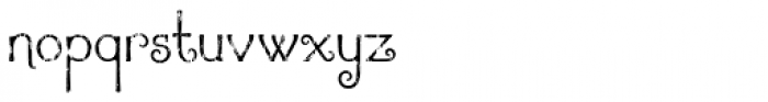 Argentile Distressed Font LOWERCASE