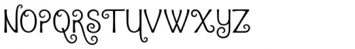 Argentile Font UPPERCASE