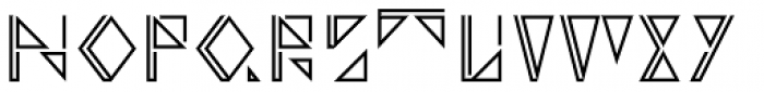 Argonautica Outlined Closed D Font UPPERCASE
