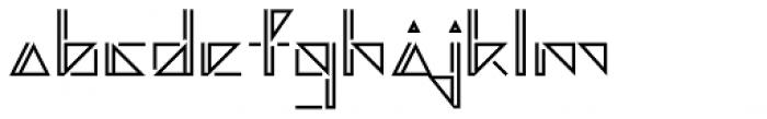 Argonautica Outlined Closed D Font LOWERCASE