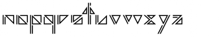 Argonautica Outlined D Font LOWERCASE