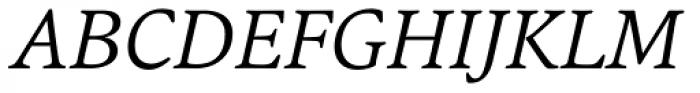 Argos Light Italic Font UPPERCASE