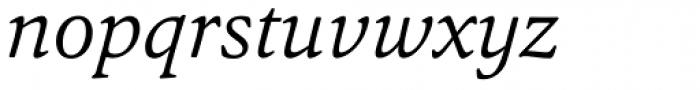 Argos Light Italic Font LOWERCASE