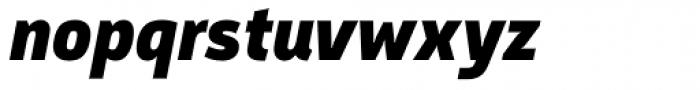 Argumentum Black Italic Font LOWERCASE