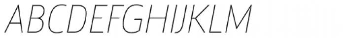 Argumentum Thin Italic Font UPPERCASE