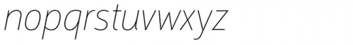 Argumentum Thin Italic Font LOWERCASE