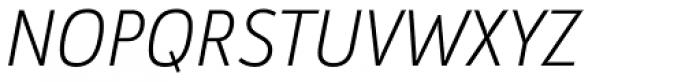 Argumentum UltraLight Italic Font UPPERCASE